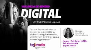 Violencia de género digital. Consideraciones Legales @ Sede Encuentro de Abogados Independientes